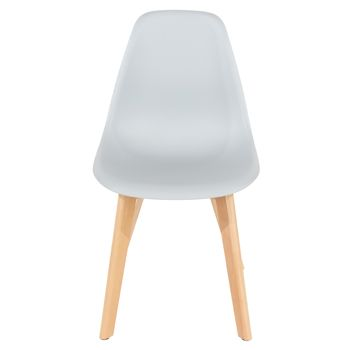 Aspen grey plastic chair, wood legs (sold in pairs) ASCH5G