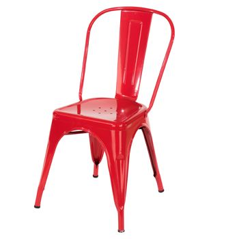 Aspen red metal assembled chair (sold in pairs) ASCH10R