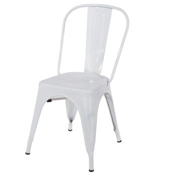 Aspen white metal assembled chair (sold in pairs) ASCH10W