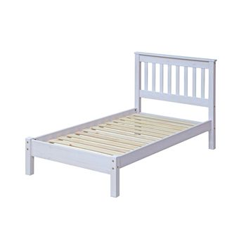 Corona White Wash 3 0 Slatted Lowend Bedstead