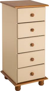 Sol 5 Drawer Narrow Chest CREAM
